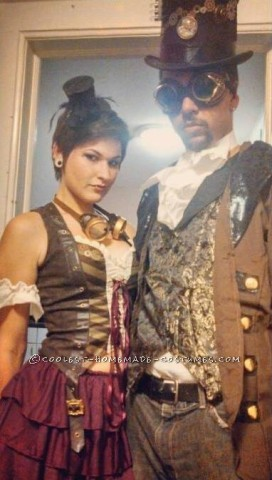 Cool Steampunk Couple Costume