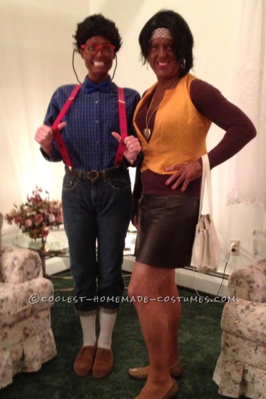 Steve Urkel and Laura Winslow Couple Costume