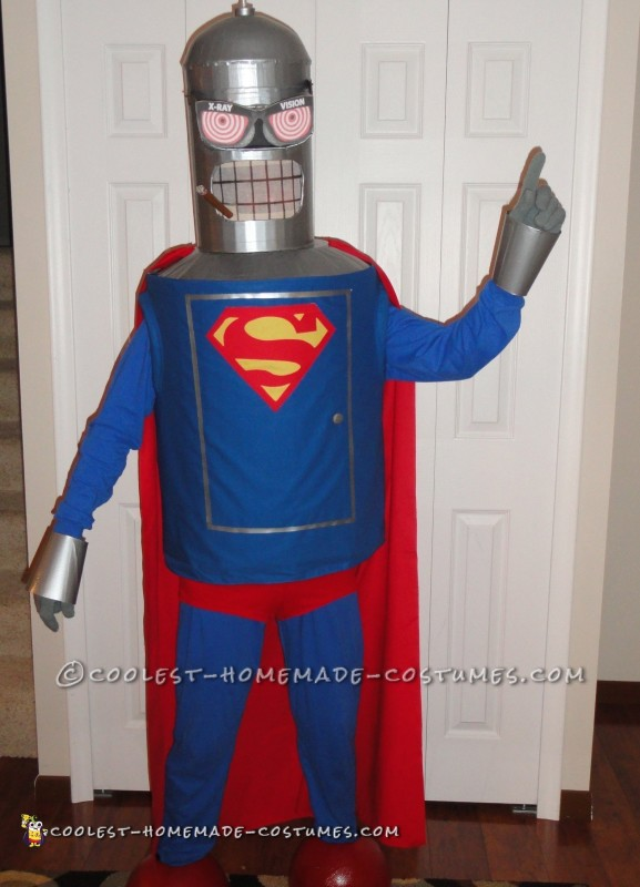 Cool Homemade Comic Convention Costume Ideas: Super Bender Futurama's Man of Steel - 1
