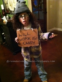 Super Easy and Awesome Hobo Costume for a Girl or Boy