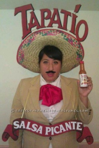 Spicy Homemade Costume Idea: Super Hot Sauce Man from Tapatio