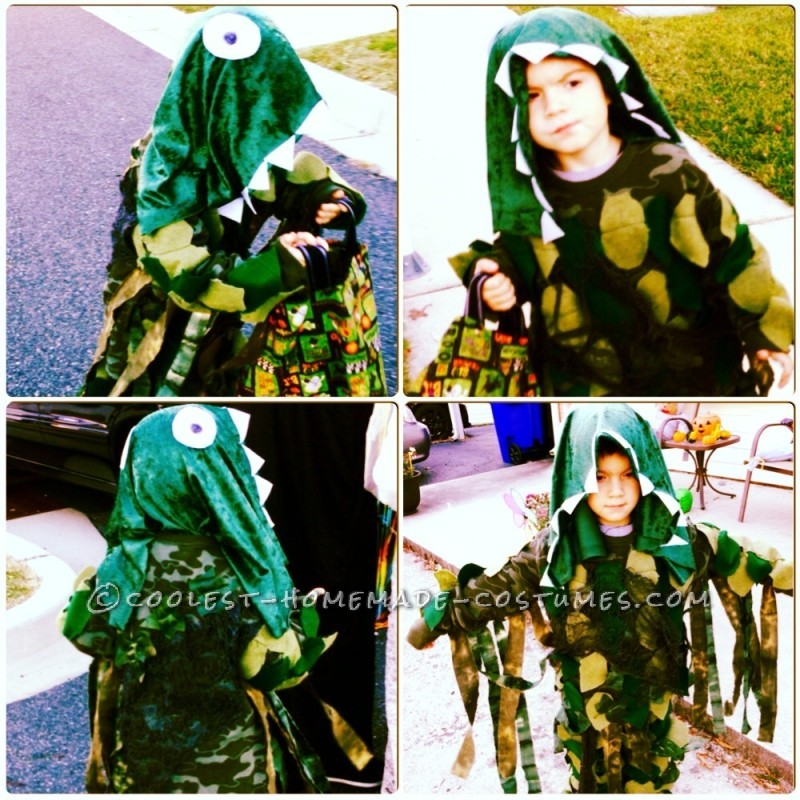 Cool Homemade Swamp Monster Costume for a Boy - 1