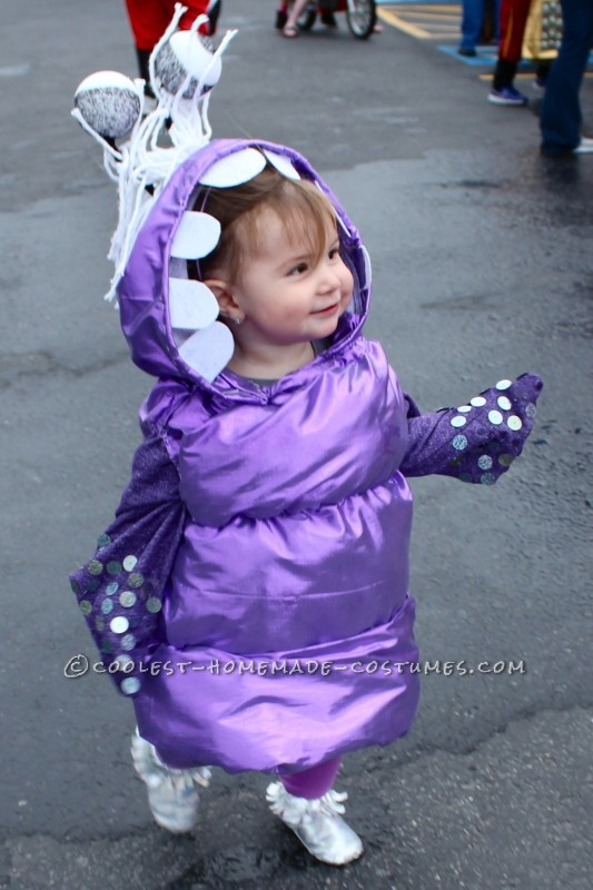 Sweetest Homemade BOO Costume for a Toddler!