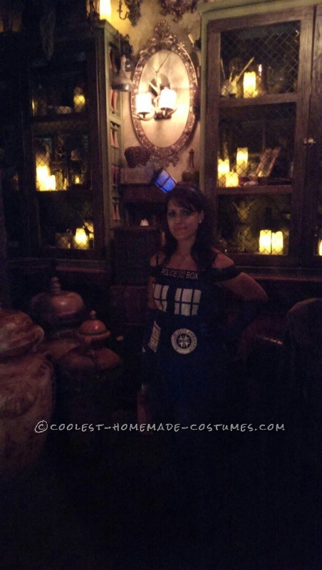 Coolest Handmade Tardis Costume for a Woman - 2