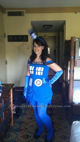 Coolest Handmade Tardis Costume for a Woman