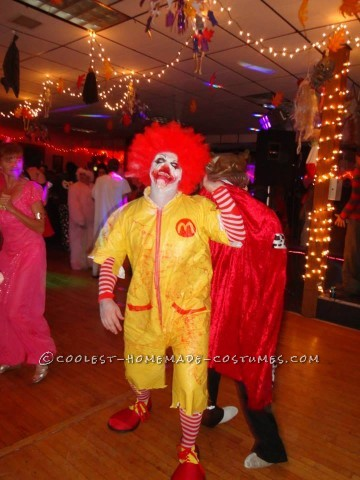 Creepy Dead Ronald Mcdonald Costume