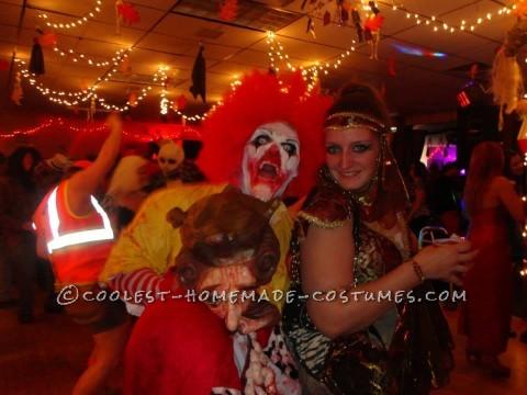 Creepy Dead Ronald Mcdonald Costume