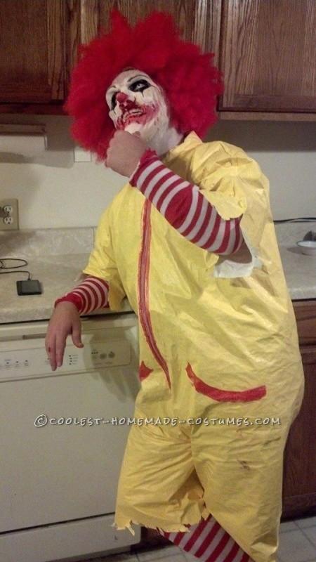 Creepy Dead Ronald Mcdonald Costume - 3