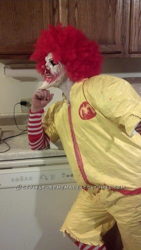 Creepy Dead Ronald Mcdonald Costume - 8