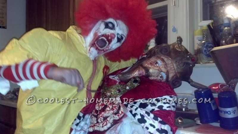Creepy Dead Ronald Mcdonald Costume - 9