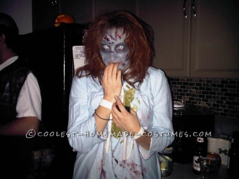 Scary Homemade Exorcist Costume and Makeup