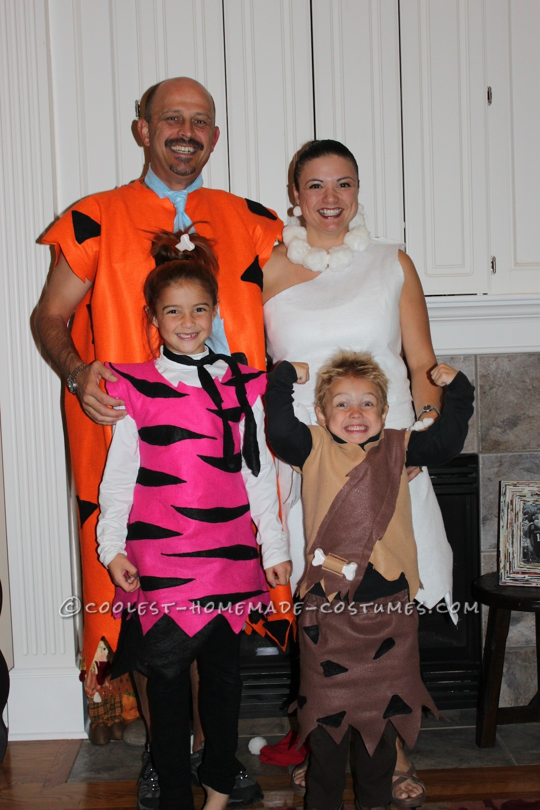 Fun Homemade Group Costume for the Family: The Flintstone's