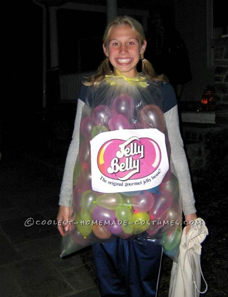 Last-Minute Prize Winning Costume that Cost Nothing: Funny DIY Jelly Belly Costume