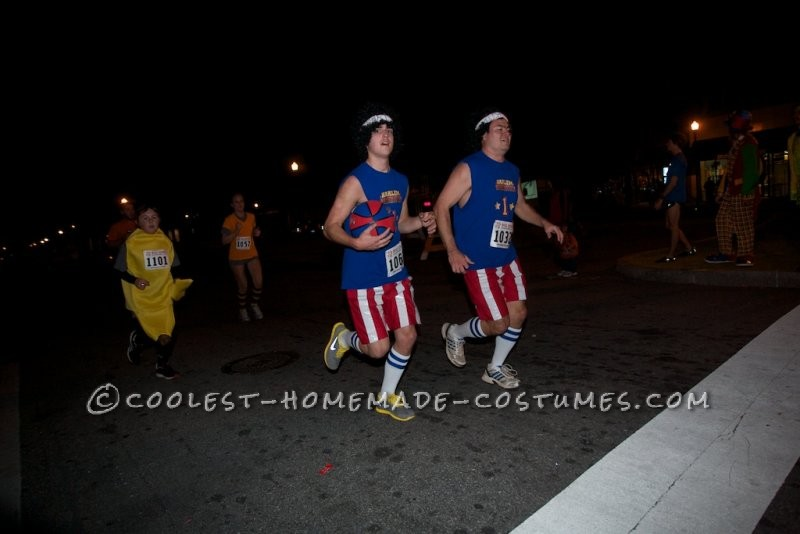 Todd and Dr. Gasser about to cross the finish line