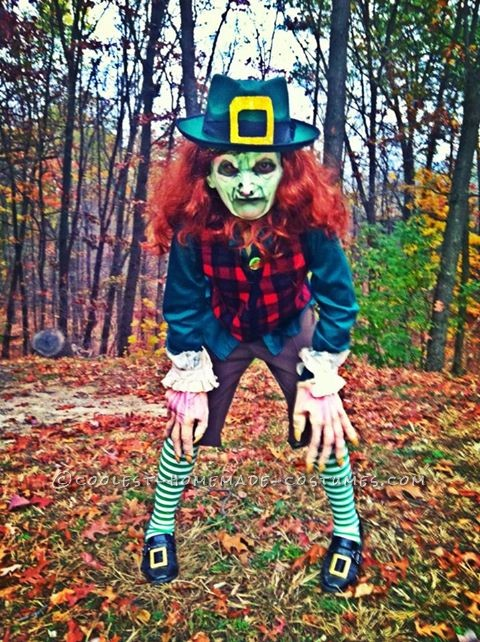 Coolest Homemade Leprechaun Child Costume