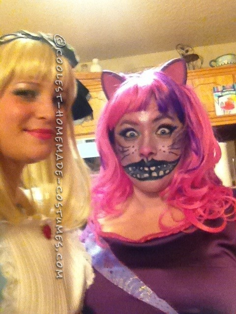 Fully Homemade Mad Cheshire Cat Costume