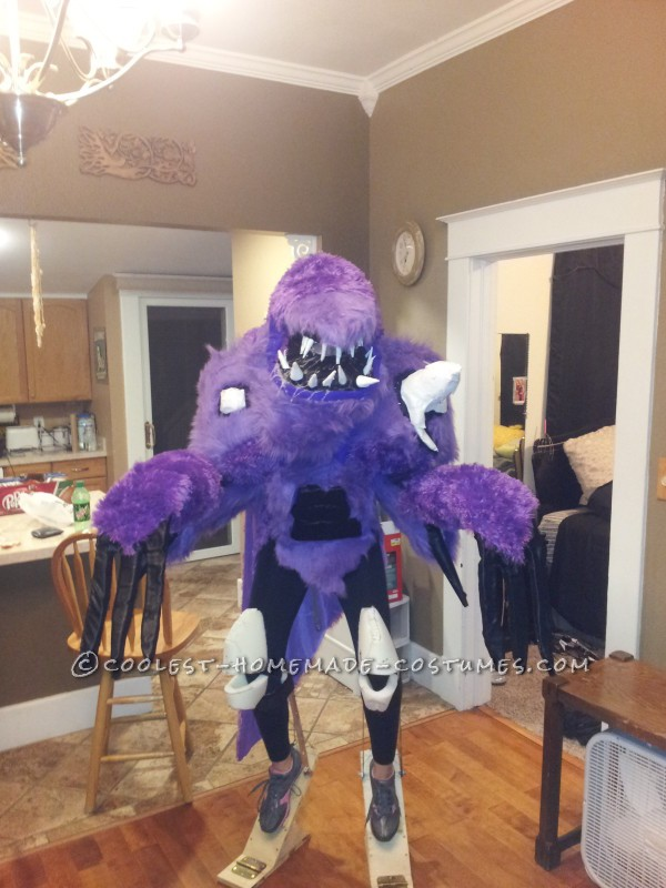 Awesome Homemade Purple People Eater Costume - 2