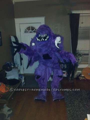 Awesome Homemade Purple People Eater Costume