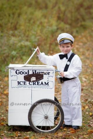 Vintage Good Humor Couple Costume: Ice Cream Man Ice Cream Cone