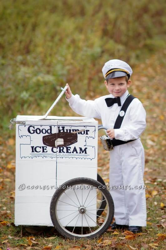 Vintage Good Humor Couple Costume: Ice Cream Man Ice Cream Cone - 3