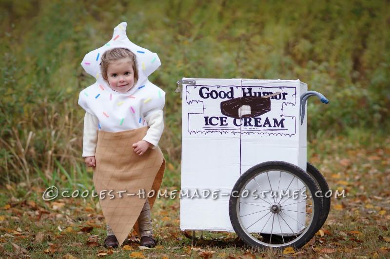 Vintage Good Humor Couple Costume: Ice Cream Man Ice Cream Cone - 5
