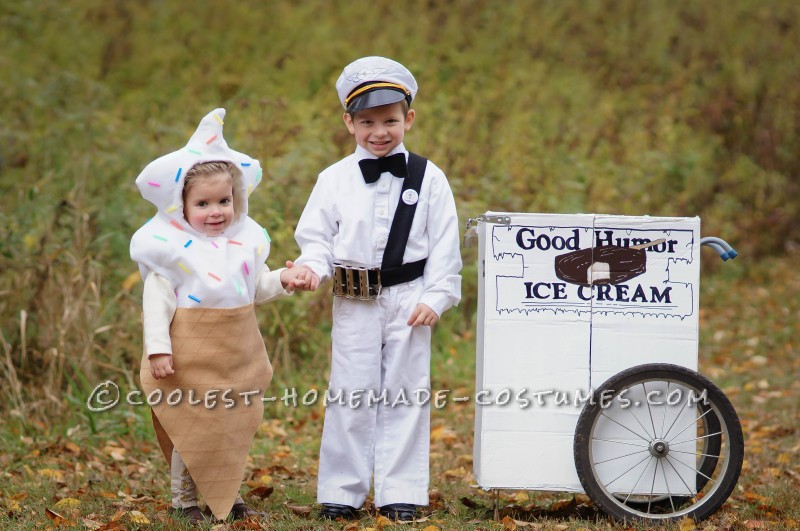 Vintage Good Humor Couple Costume: Ice Cream Man Ice Cream Cone - 7