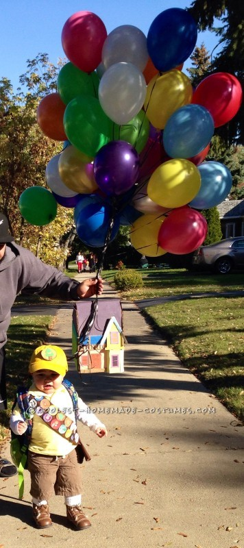 "Cool DIY Costume for a Toddler: This Kid is Going ""Up"" in the World - 2"