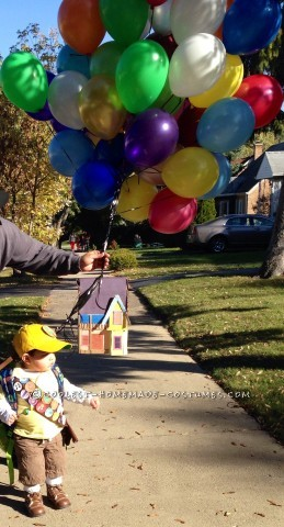 """Cool DIY Costume for a Toddler: This Kid is Going """"Up"""" in the World"""