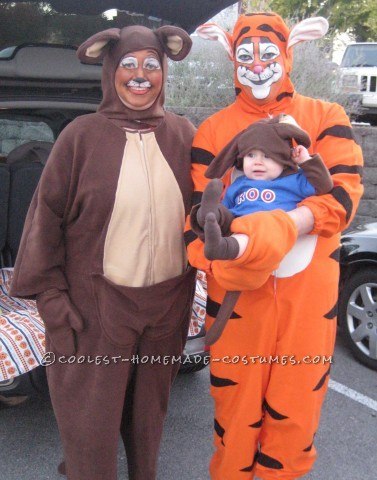 Tigger, Kanga and Roo Family Group Costume: An Epic Tail