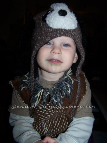 Cute DIY Hound Dog Costume for a Toddler