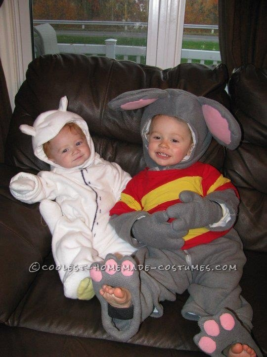Coolest Homemade Toopy and Binoo Costumes for a Toddler and Baby