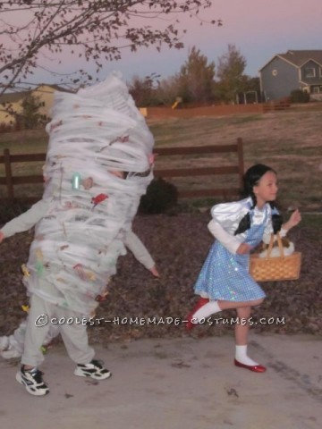 Coolest Homemade Tornado Costume Idea