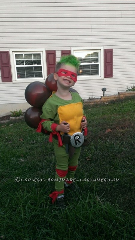 Totally Awesome Ninja Turtle Costume for a Little Boy