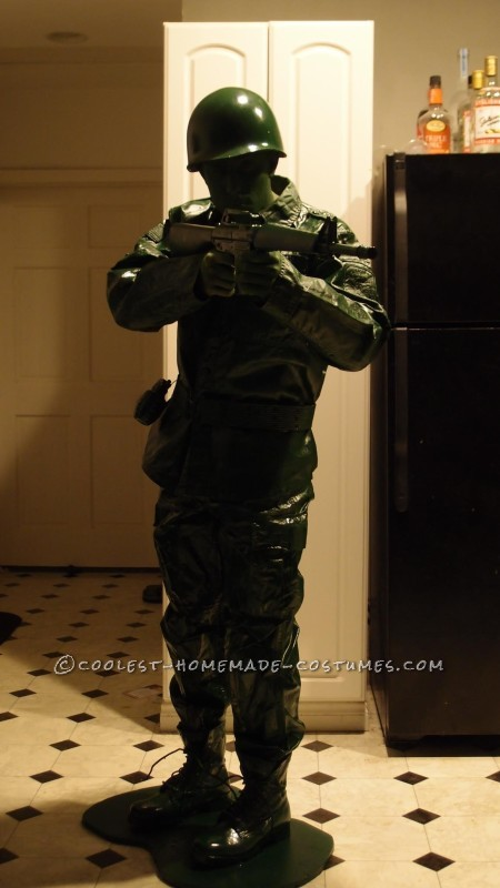 Coolest Homemade Plastic Toy Soldier Costume - 2