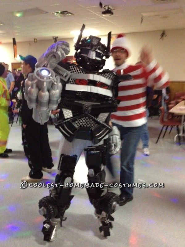Cool Homemade Transformers Costume Made of Recycled Materials - 2