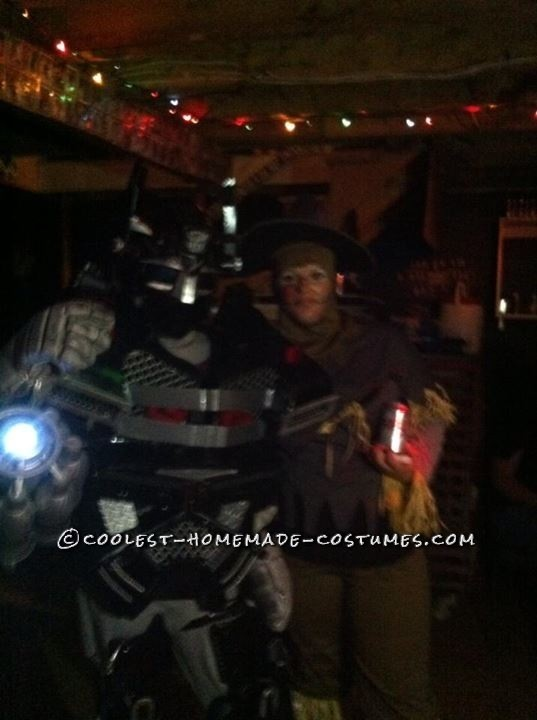 Cool Homemade Transformers Costume Made of Recycled Materials