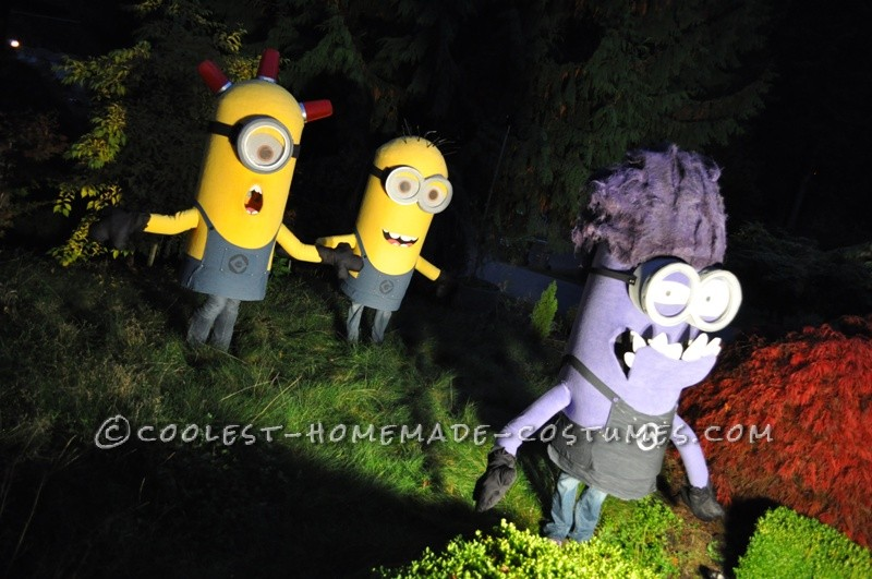 Awesome Homemade Trio of Despicable Me Minions Group Costume - 1