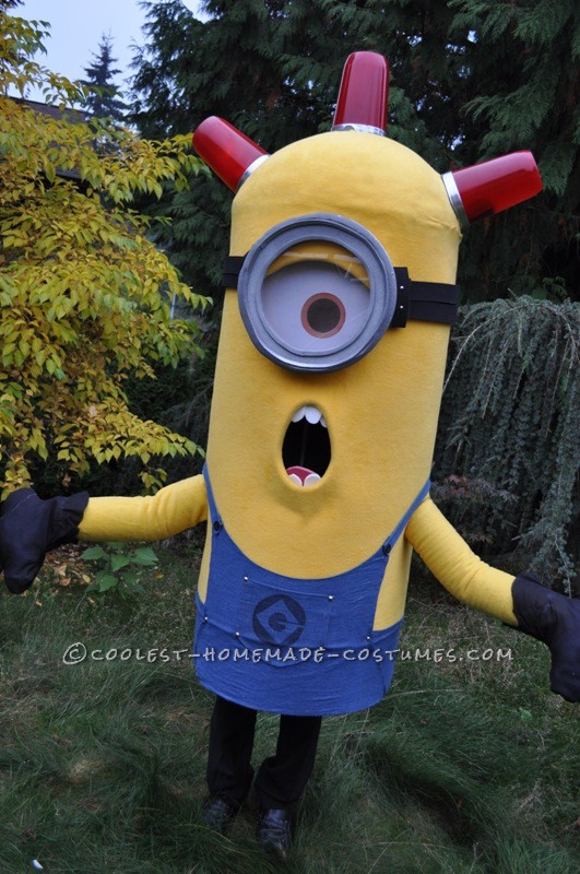 Awesome Homemade Trio of Despicable Me Minions Group Costume - 2