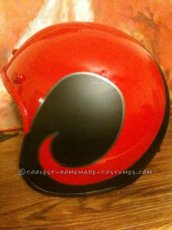 Side of helmet