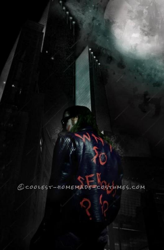 Back of Joker leather jacket
