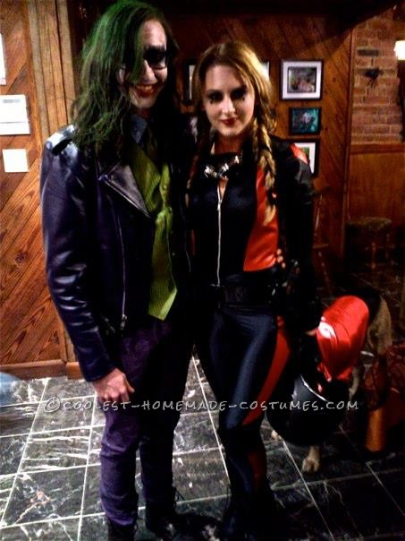 Unique Harley Quinn and Joker Couple Costume (Motorcycle Theme)