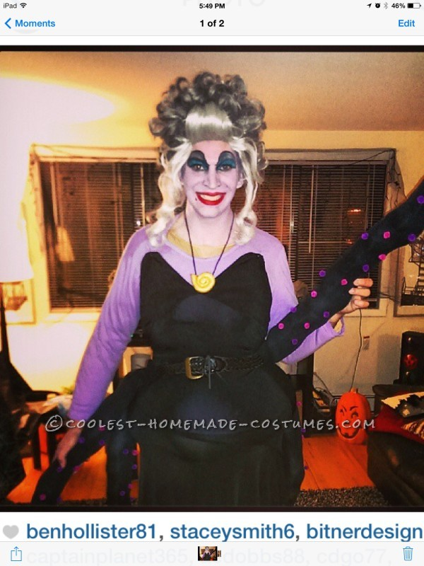 Cool Homemade Ursula the Sea Witch Costume