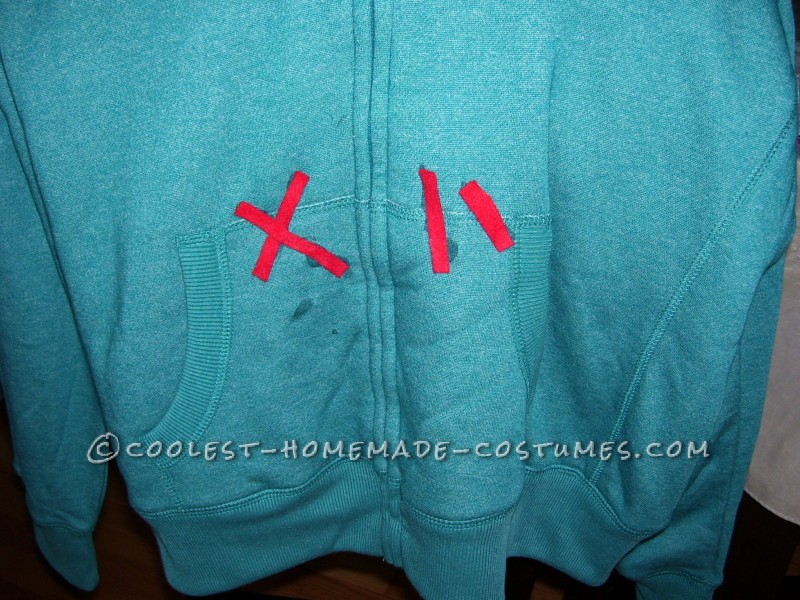 The details of the hoodie...