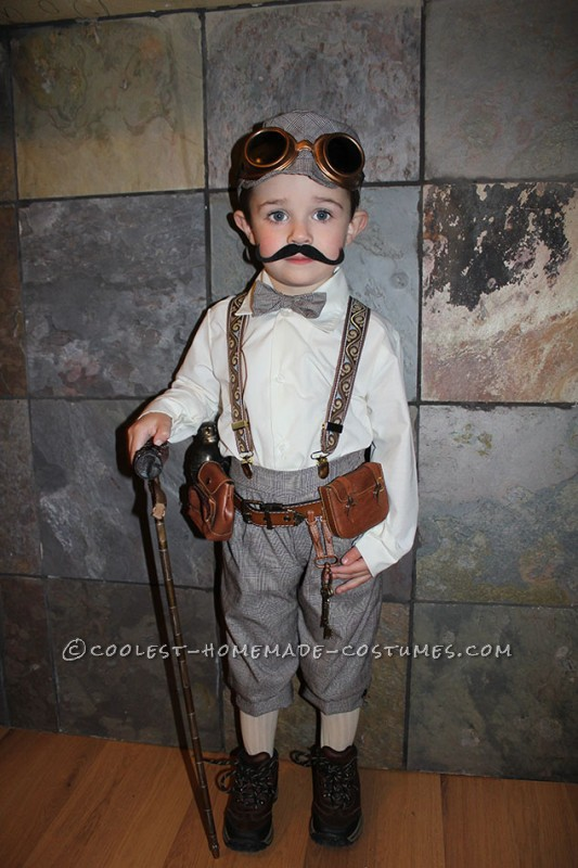 Victorian Explorer Steampunk Costume for a Toddler