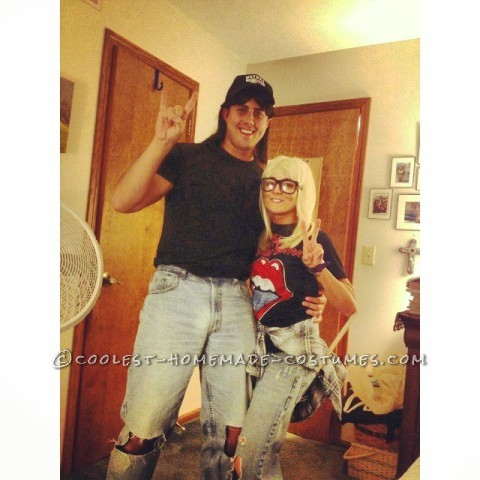 Excellent DIY Wayne's World Couples Costume
