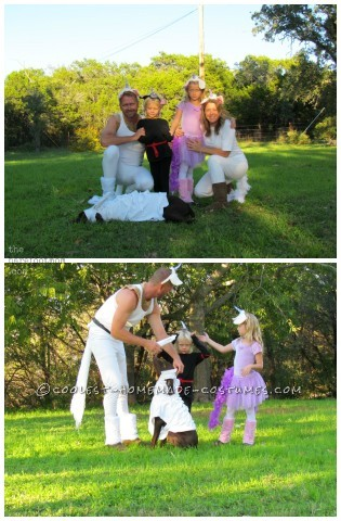 What A Blessing! Group of Unicorns Family Homemade Costume