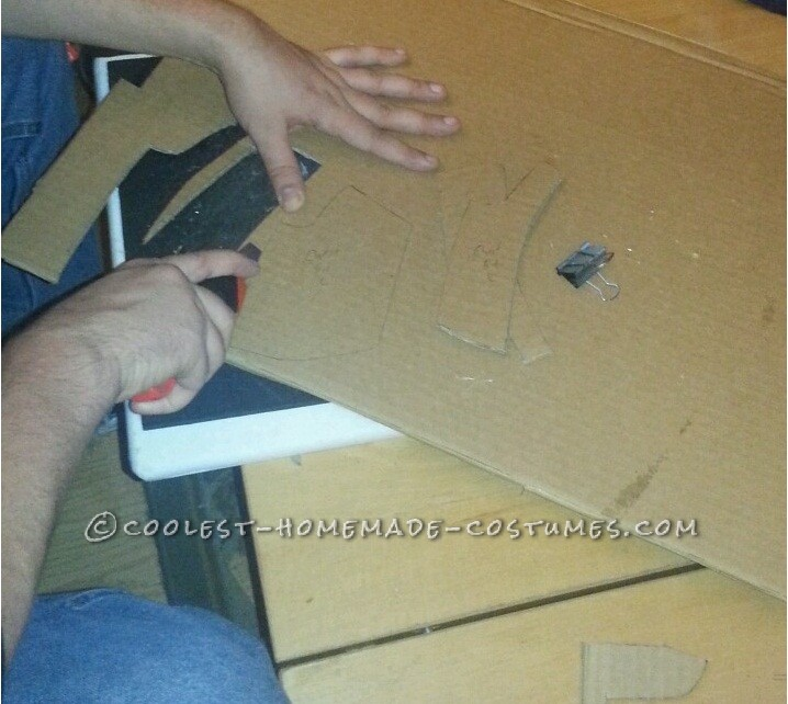 Cutting out the pieces (Step 5)