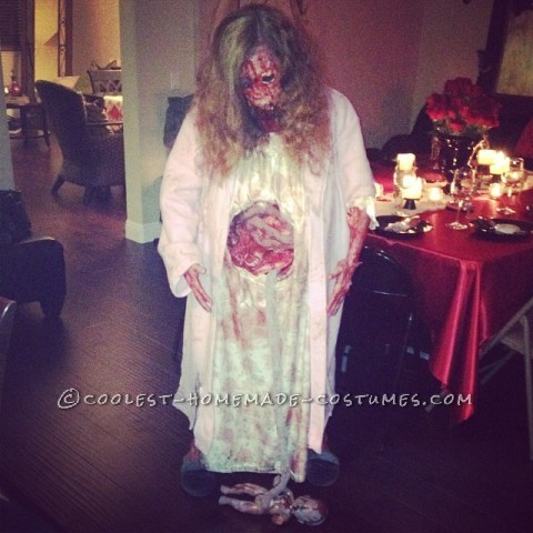 Really Scary Pregnant Zombie Halloween Costume!