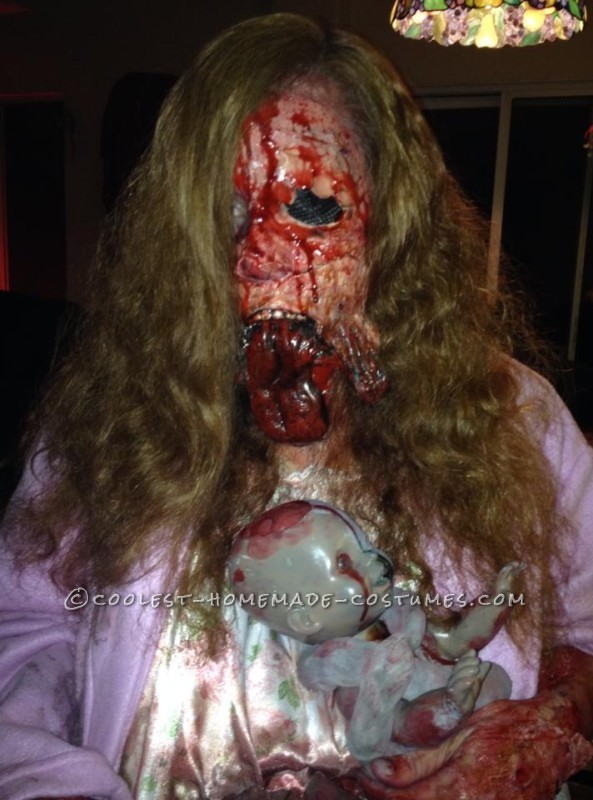 Really Scary Pregnant Zombie Halloween Costume! - 1