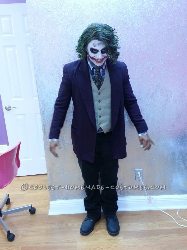Cool Homemade Joker Halloween Costume - 2